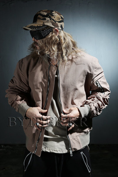 ByTheRShirring Loose Fit Flight Jacket