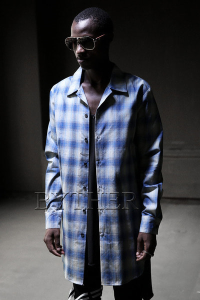 ByTheRBlue Check Long Shirt